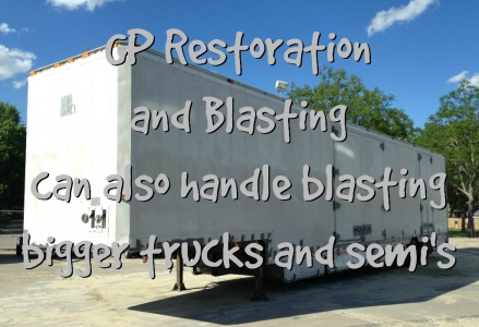 GP Restoration and Blasting Trucks Semis